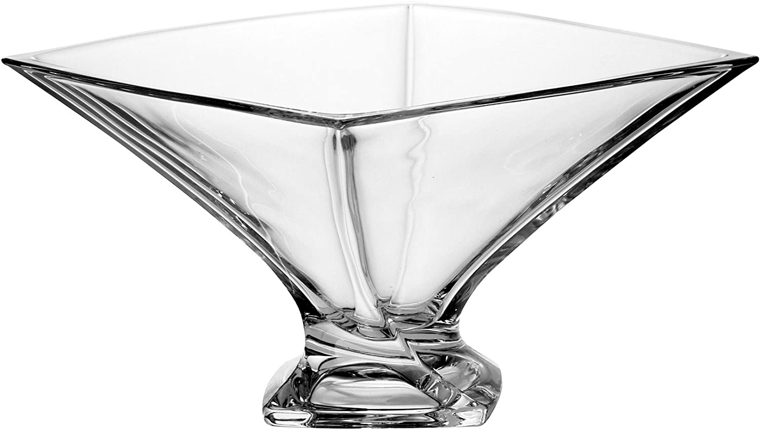 Barski - European Quality Glass - Lead Free - Crystalline - Square Footed Bowl - 6.5   Diameter - Made in Europe