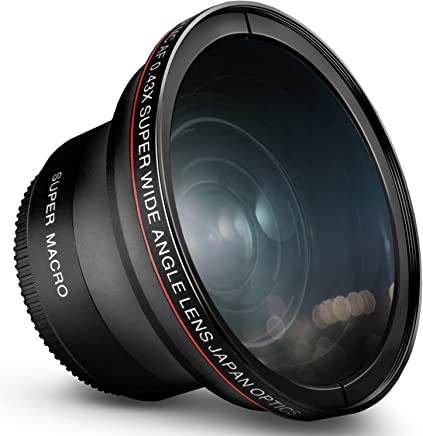 52MM 0.43x Altura Photo Professional HD Wide Angle Lens...