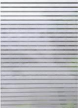 COOJA Privacidad Vinilo Ventana Electrostatico, Film Ventana Vinilo Decorativo Estatico Vinilo Autoadhesivo Película de Ventana Opaco Pegatina Cristal para Cocina Cuarto Oficina 45x200cm -Rayas