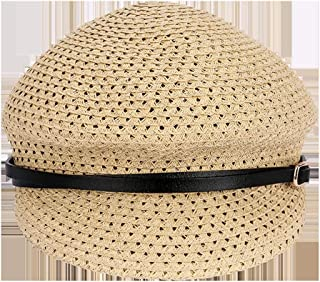 Hats Summer Outdoor Hat Lightweight Breathable Cap Women's Straw Hat Fashion (Color : Beige, Size : Adjustable)