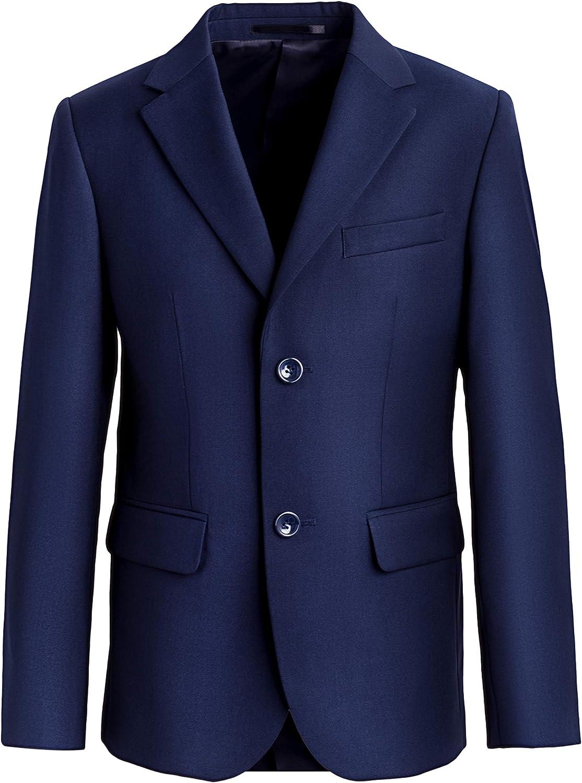 STENSER K46A Jungen Anzug Uniform 2 Teilig Sakko Hosen Formale Festlich Hochzeit Blau