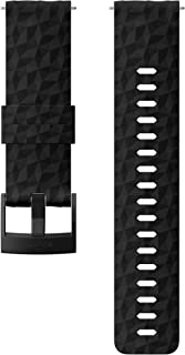 Suunto SS050221000 Original Watch Strap for All Suunto Spartan Sport WRH and Suunto 9 Watches, Silicone, Length: 22.3 cm, Width: 24 mm, Includes Pins for Attaching the Strap, Black/Black