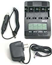 OPUS BT-C2400 Battery Charger Analyzer Tester for AA AAA NiMH NiCd Rechargeable Batteries with Car Adapter