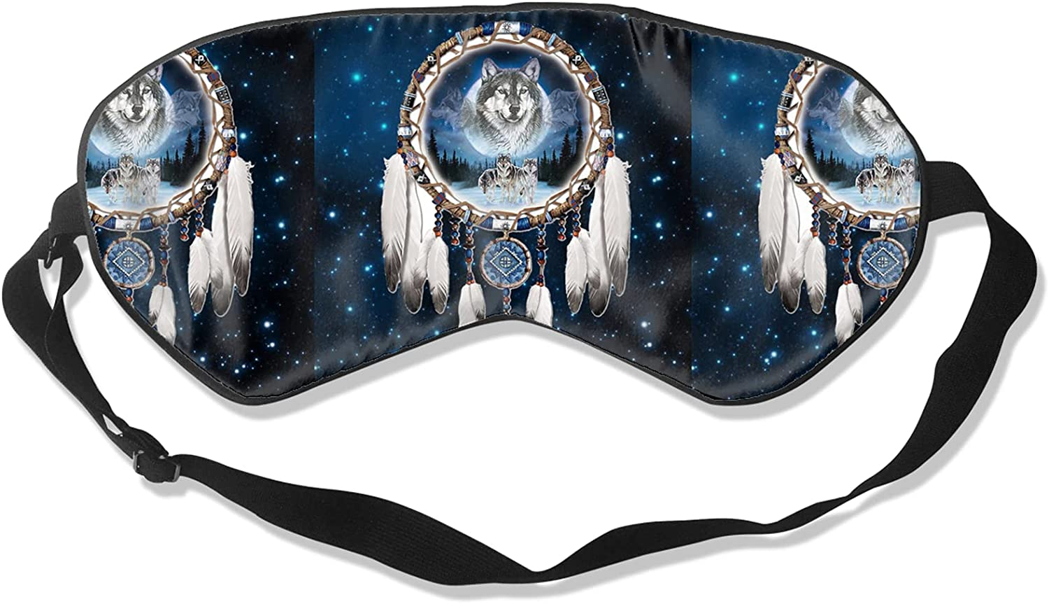 Wolf and Indian Dream Catcher Ultra-Cheap Max 54% OFF Deals Comfortable So Sleep Blindfold Eye