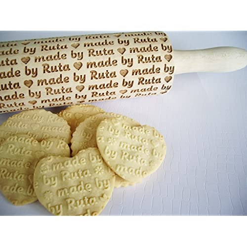 The Gift Experience Personalised Mini Childrens Rolling Pin Engraved with Any Message