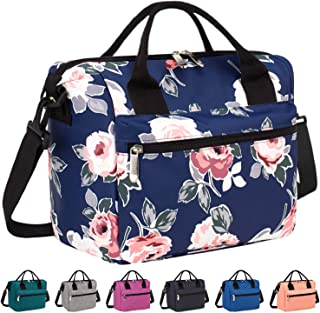 Venture Pal Lunch Box Insulated Lunch Bag with Adjustable Shoulder Strap, Water Resistant Leakproof Cooler Bag Lunch Container for Women/Men/Kids/Work/School/Picnic (Blue Flower)