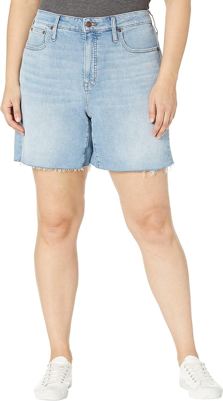 Madewell Plus Size High-Rise Denim Shorts in Hemp in Watt Wash