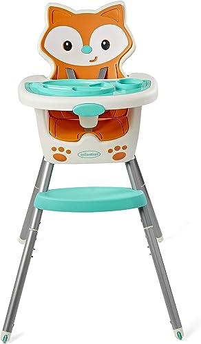 Infantino 4-en-1 Chaise Évolutive - Chaise haute pour bébés, siège rehausseur pour bébés/enfants et chaise d'enfant -...