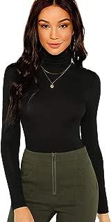 Women's Long Sleeve Slim Fit Turtleneck Basic T-shirts