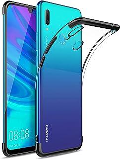 Huawei Y6 Pro 2019 ケース 超軽量 極薄型 KuGi Huawei Y6 2019 背面カバー 透明 耐衝撃 落下防止 シンプル TPU ソフト 衝撃吸収 耐スクラッチ Huawei Honor 8A 保護カバー ブラック