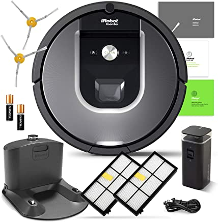 iRobot Roomba 960 Robotic Vacuum Cleaner Wi-Fi Connectivity + Manufacturers Warranty + Extra Sidebrush