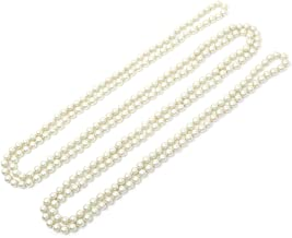 Women's 90, 96 Inches Long Faux Glass Pearl Bead 1920's Flapper Beads Cluster Long Necklace