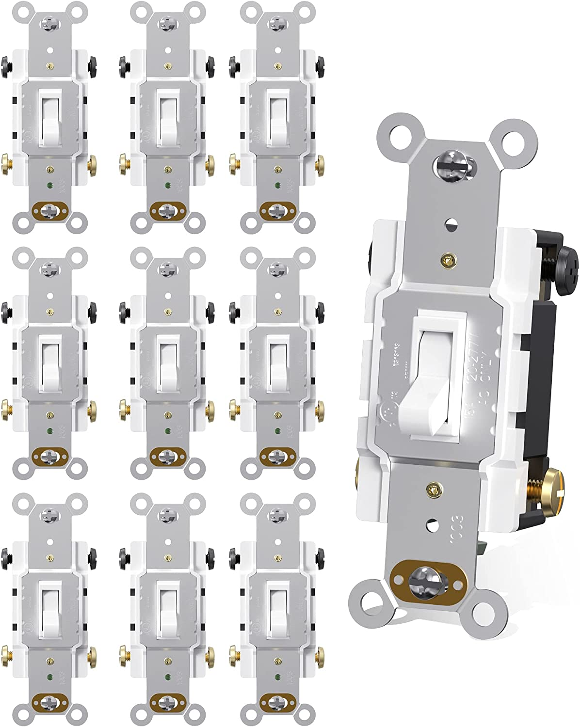 AIDA White Toggle Light Inexpensive Switch 4 Resident Way Screw Recommended Grounding