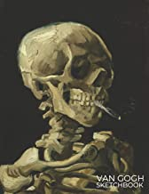 Van Gogh Sketchbook: Blank Book Sketchbook to Draw, Sketch, Doodle or Write for Kids and Artists - Drawing Book (Skull with Cigarette)