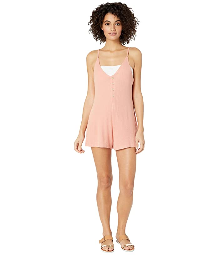 Roxy Chill Love Knit Romper Cover-Up (Muted Clay) Women
