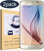 [2 Pack] Galaxy S6 Screen Protector Glass, IVVO Premium Tempered Glass Screen Protector for Samsung Galaxy S6 with [9H Hardness] [Crystal Clear] [Scratch Resist] [No-Bubble Installation]
