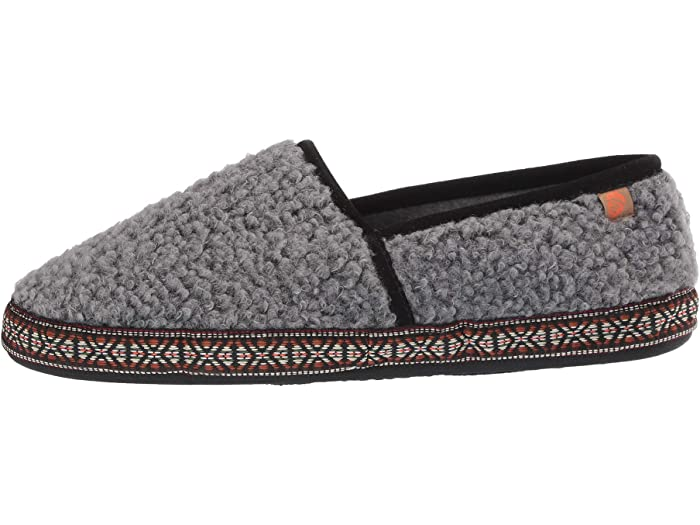 Acorn Woven Trim Moc Stormy Grey Loafers