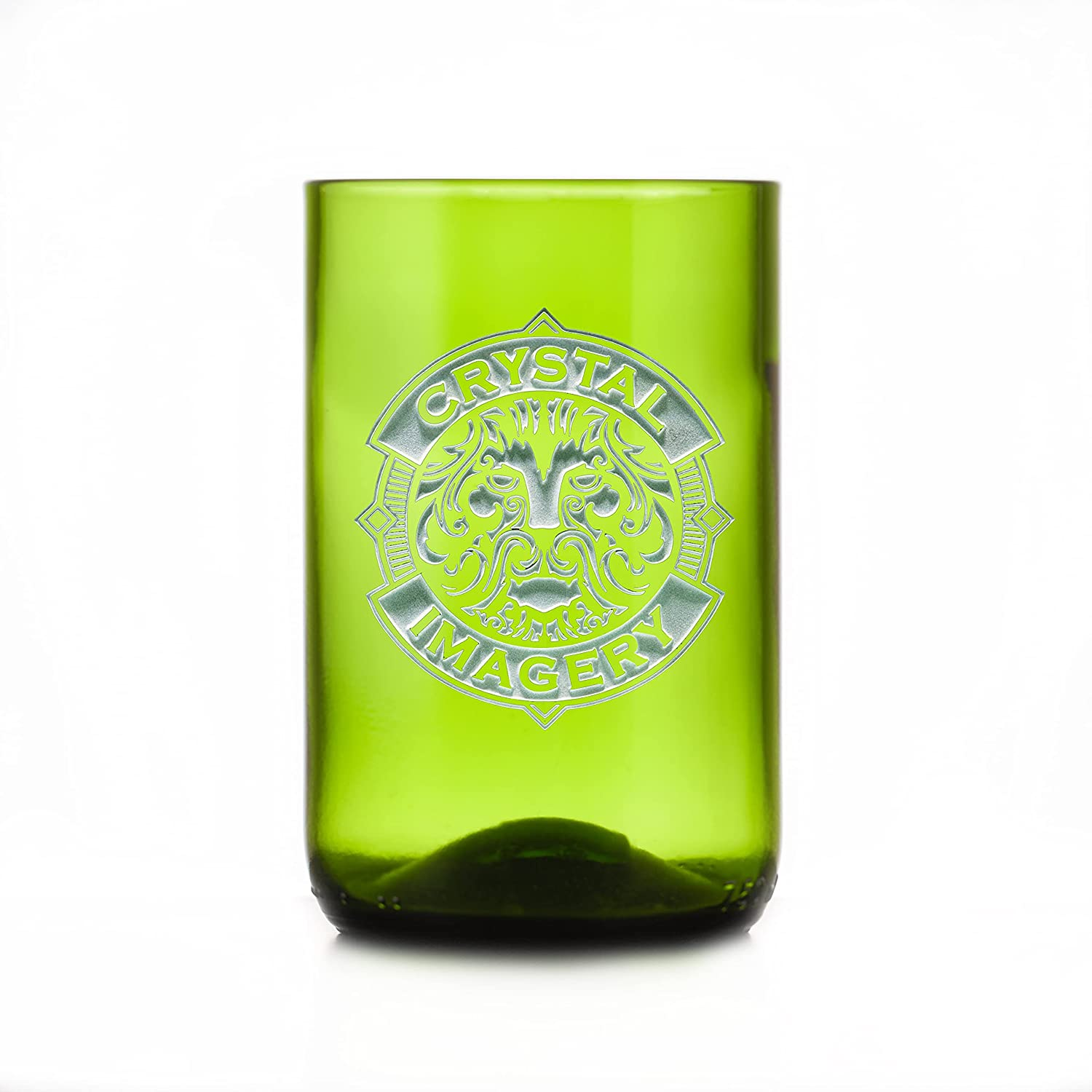 Green Clearance SALE Limited time Recycled Wine Bottle Glass With Your Logo Of Set 4 Financial sales sale