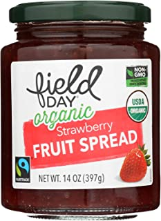 Field Day Organic Fruit Spread - Strawberry - 14 oz, Pack of 12