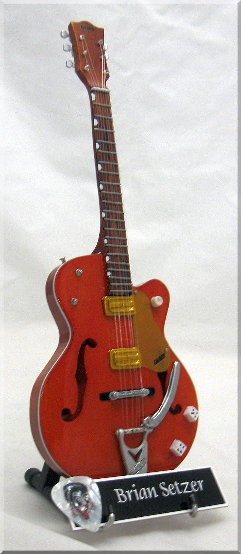 BRIAN SETZER Miniatura Guitarra STRAY CATS con Guitar Pick