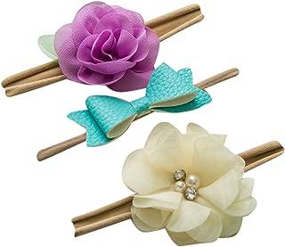 Sweet Valentina Set 3 Bow Headband - Baby headband lace bow - Headband Bow Set