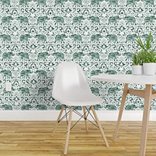 paisley elephant wallpaper