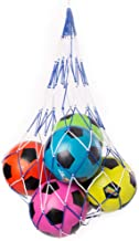 Double-Braided Sports Ball Carrying Net, Holds 10 Balls - Multi-sport Bag for Basketball, Football, Soccer, Volleyball, Pl...