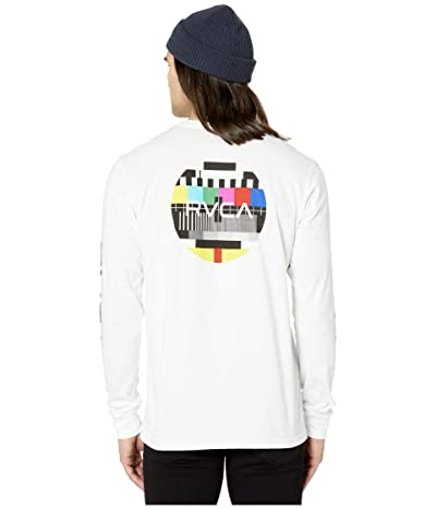 RVCA Testing Long Sleeve (White) Men