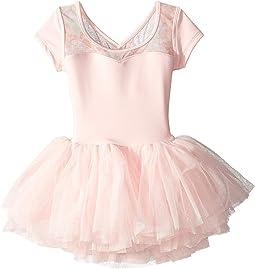 Cap Sleeve Floral Mesh Dress (Toddler/Little Kids/Big Kids)
