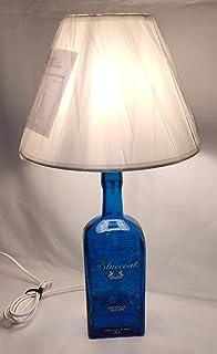 Lampada Bottiglia America Dry Gin Bluecoat riciclo creativo arredo design idea regalo riuso