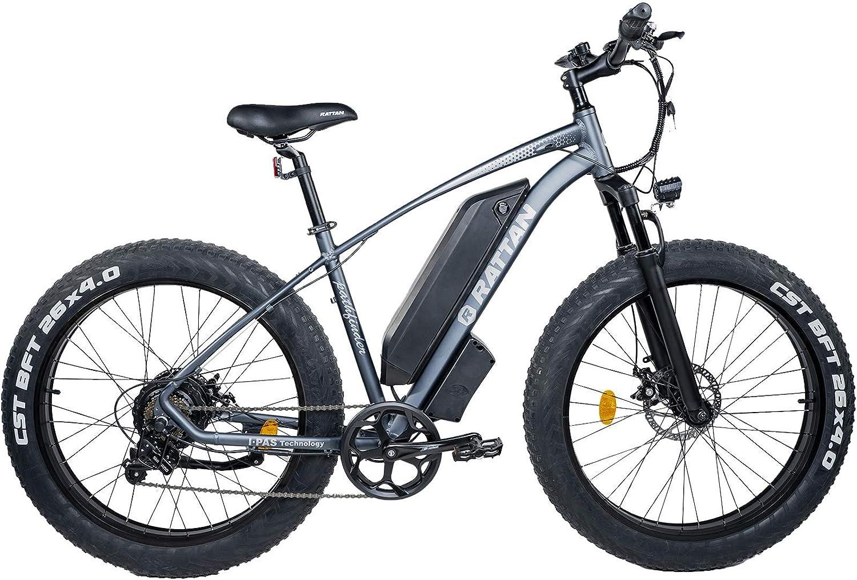 Rattan Electric Bike 750W 48V 26 Inch Fat Tire Electric Bike 4.0 Snow Bike 28MPH Snow//Beach//Mountain Off-Road Electric Bikes 13AH Power E-Bike Shimano 7 Speed Shifter Electric Bicycle
