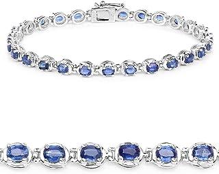 Huang and Co. 6.32 Carat Genuine Kyanite Solid .925 Sterling Silver Bracelet