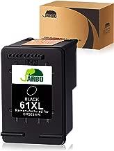 JARBO 61 XL Remanufactured for HP 61XL 61 Black Ink Cartridge, HP 61 Ink, 1 Black, Use with HP Envy 4500 5535 Deskjet 1000 1010 1055 1512 2510 2512 2544 2549 3000 3510 3050A Officejet 4635