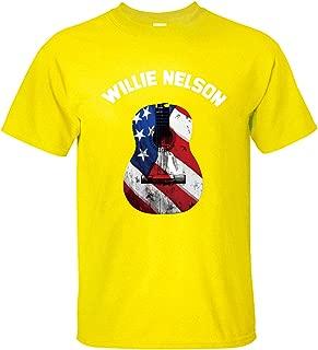 WOODO Men's Willie Nelson Trigger Poster Music Band Logo T Shirt