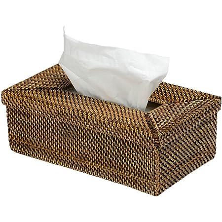9.5 x 5.75 x 3.25 Honey Brown KOUBOO 1030018 Rectangular Rattan Tissue Box Cover