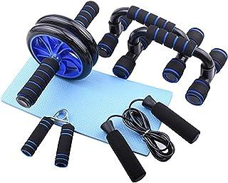 Fitness bukhjul fem delar uppsättning, buk tränare maskin, träningsutrustning set, sport fitness utrustning, för gym hem t...