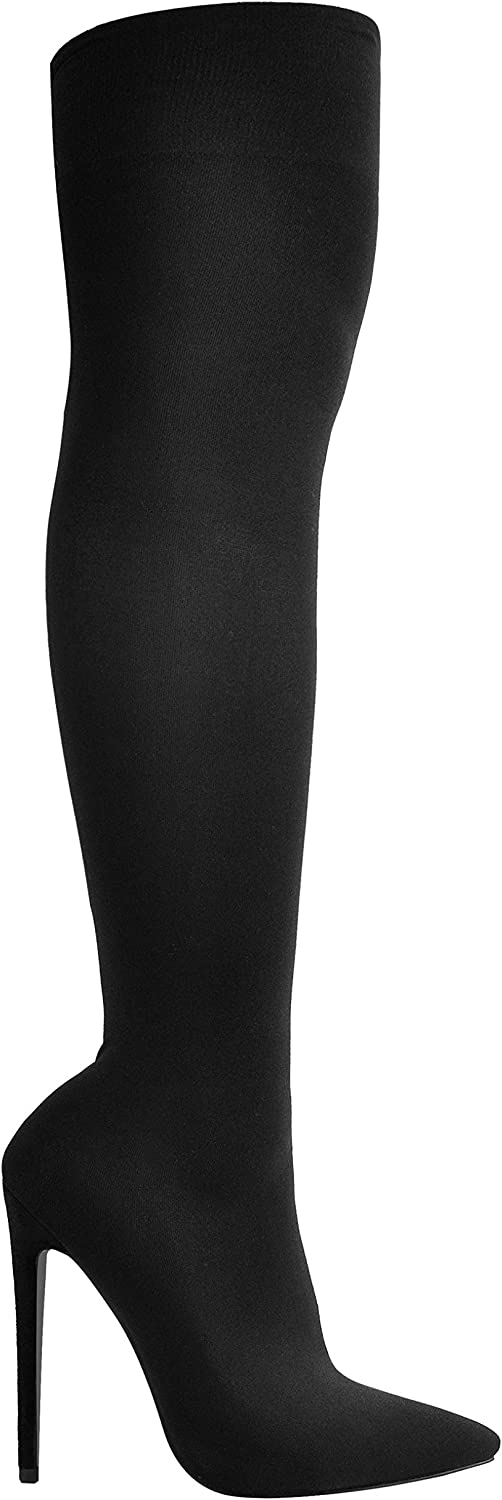 Sexytag Women's Stretch Over The Knee Sock Boots