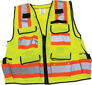 Ironwear 1278FR-L-07-4XL ANSI Class 2 Flame Retardant Polyester Surveyor SAFETY Vest with 2
