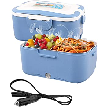 AUTOPkio Boîte à Lunch électrique de Camion, Lunchbox Electric 24V 35W Food Warmer Lunch Box for Truck Driver 1.5L Portable Heating Meal Container Bento Heater