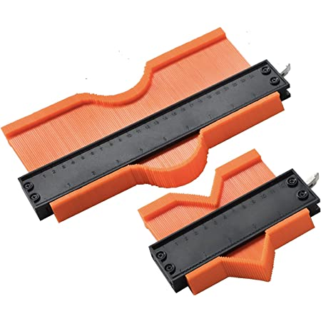 Contour Gauge Profile Tool -AmaCupid Adjustable Lock-Contour Duplications Gauge-Construction Rulers-Woodworking Tracing-Scribe tool-Solve the measurement problem of irregular shapes 10 /& 5inch