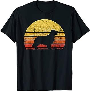 Vintage Retro Golden Retriever Silhouette Sunset Distressed T-Shirt