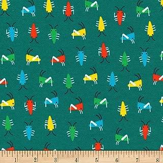 Cloud 9 Organics Sidewalk Interlock Knit Bug's Life Green Fabric by The Yard