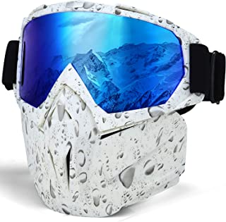 KUTOOK Motorcycle Goggles Mask Protect Padding Helmet Sunglasses for Skiing Riding Outdoor Activities