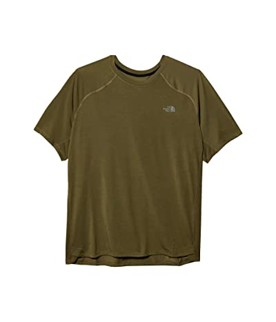 The North Face Essential Short Sleeve (Burnt Olive Green) Men