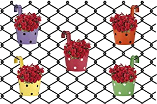 Gardens Need Iron Round Hanging Pot | Set of 5 Planter, (Multicolor)