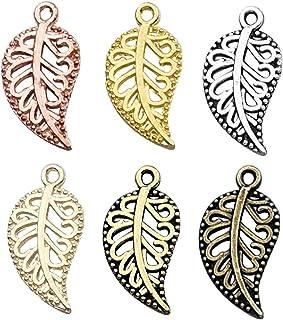 EC226-PG Jewelry Craft Supplies Polished Gold Plated  8 Pcs Leaf  Pendant Medium