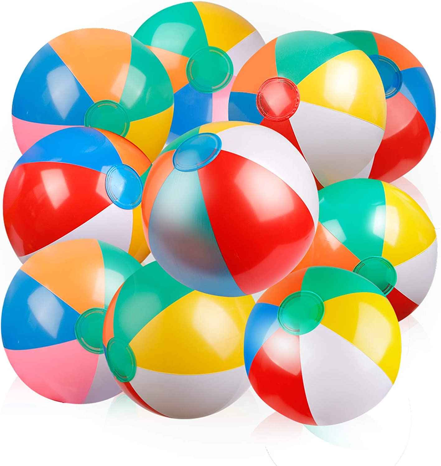Coogam Inflatable Beach Ball Classic Color Rainbow Price reduction Birthday Al sold out. Pool