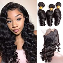 YUZHU Loose Wave 360 Frontal with Bundles 12