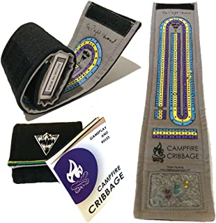 Campfire Cribbage – This unique Playful Nomad board game wraps around a deck of cards making the ultimate travel accessory. Get yours now for family fun on all your adventures!