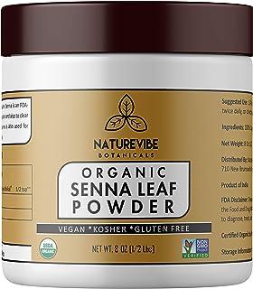 Sponsored Ad - Naturevibe Botanicals Organic Senna Leaf Powder 8 Ounces - Non GMO & Gluten Free | Healthy Hair | Skin Care...